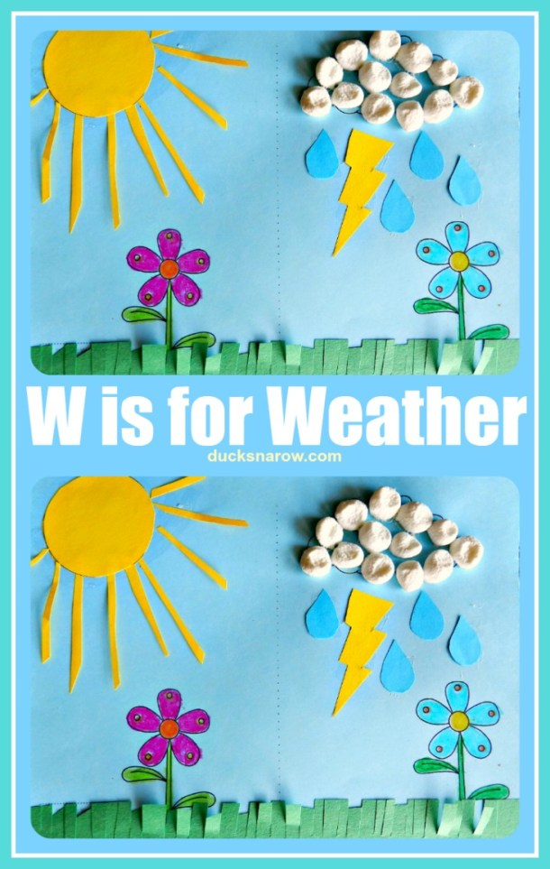W is for Weather preschool craft and lesson #preschool