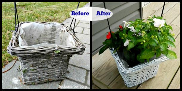 planter, flowers, patio, basket