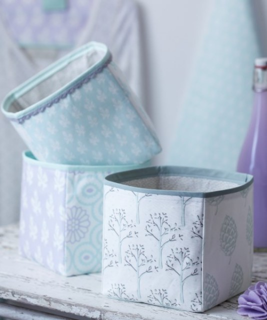 16 beautiful craft baskets #DIY #sewing