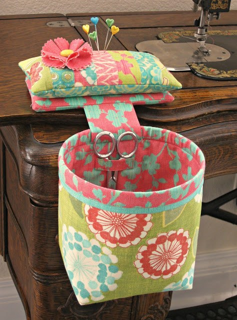 DIY thread catcher basket #sewing