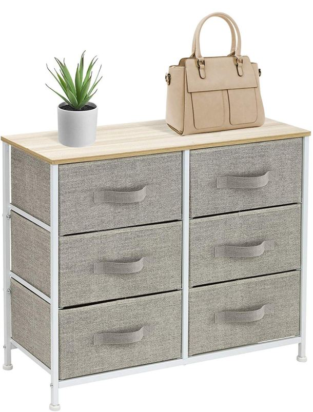 Easy pull fabric drawer dresser #storage #homedecor #officedecor