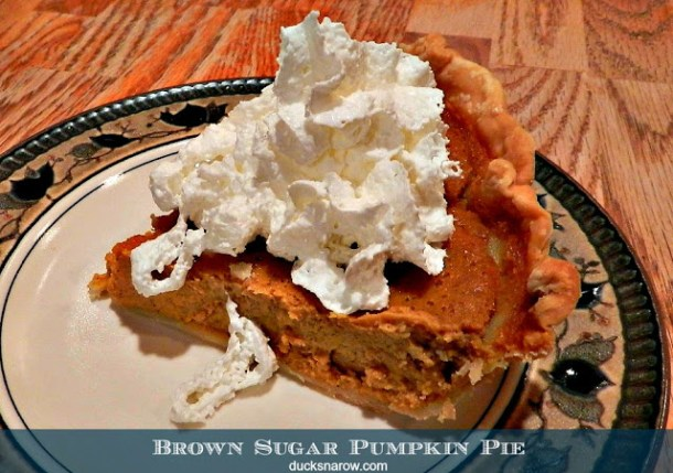 Delicious brown sugar pumpkin pie recipe