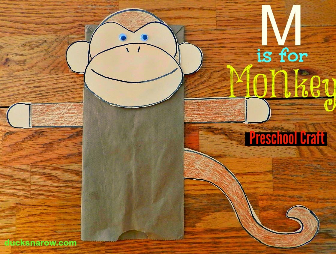 Make A Fun Paper Bag Monkey Puppet With Your Preschoolers