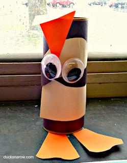 kids crafts, Letter P is for Penguin