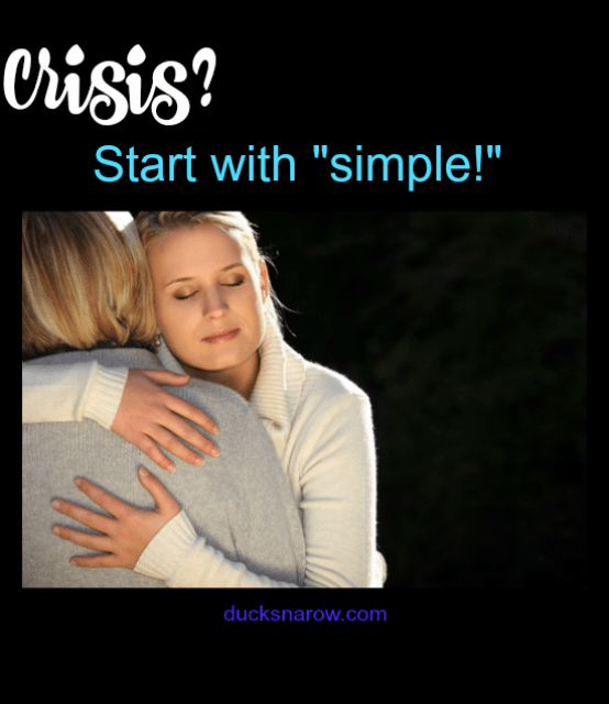 "How to streamline your responsibilities in the midst of a crisis. Start with ""simple!"" #tips"