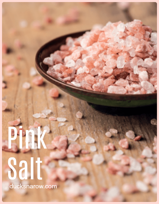 Himalayan Pink Salt - how to keep it from clumping in a salt shaker #DucksnaRow #healthyliving #householdhints #tips