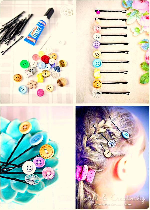 craft buttons, back to school