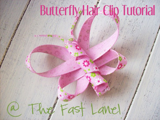 Butterfly hair clip tutorial