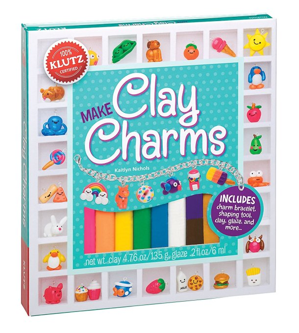 Make clay charms with this craft kit #kids #ad