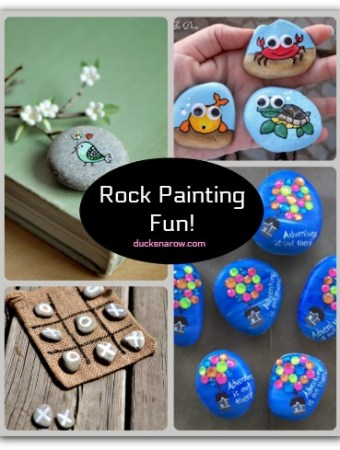 Rock painting is a fun craft for adults and kids alike!