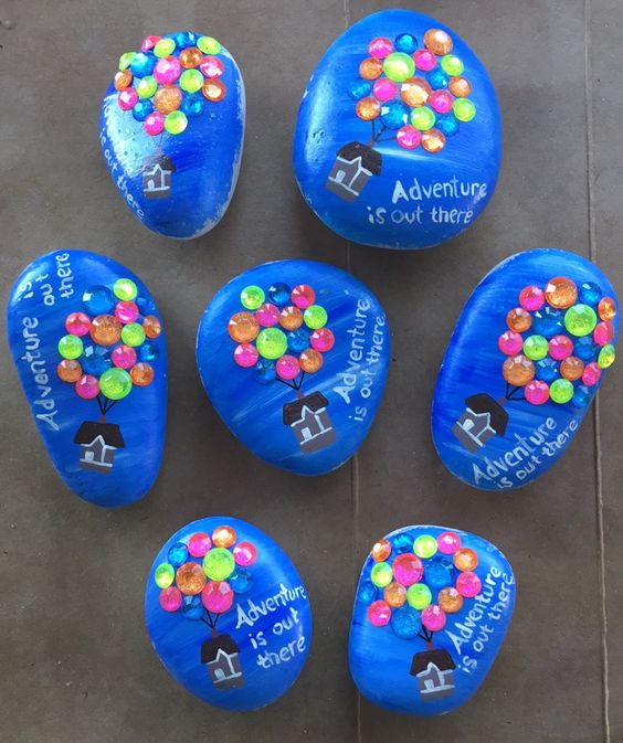 Adventure is out there inspirational painted rock - perfect for gifts