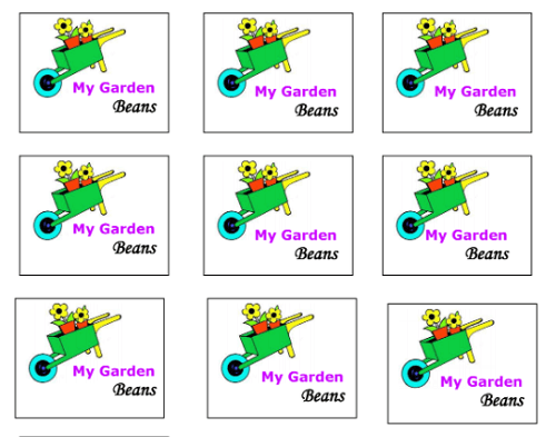 G is for Garden labels for a preschool activity