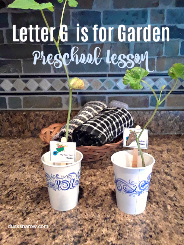 Letter G is for Garden preschool lesson