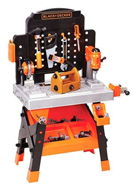 This pretend power tool bench with toy tools looks and sounds REAL #ad
