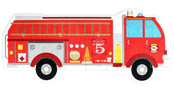 Firetruck floor puzzle for kids #ad