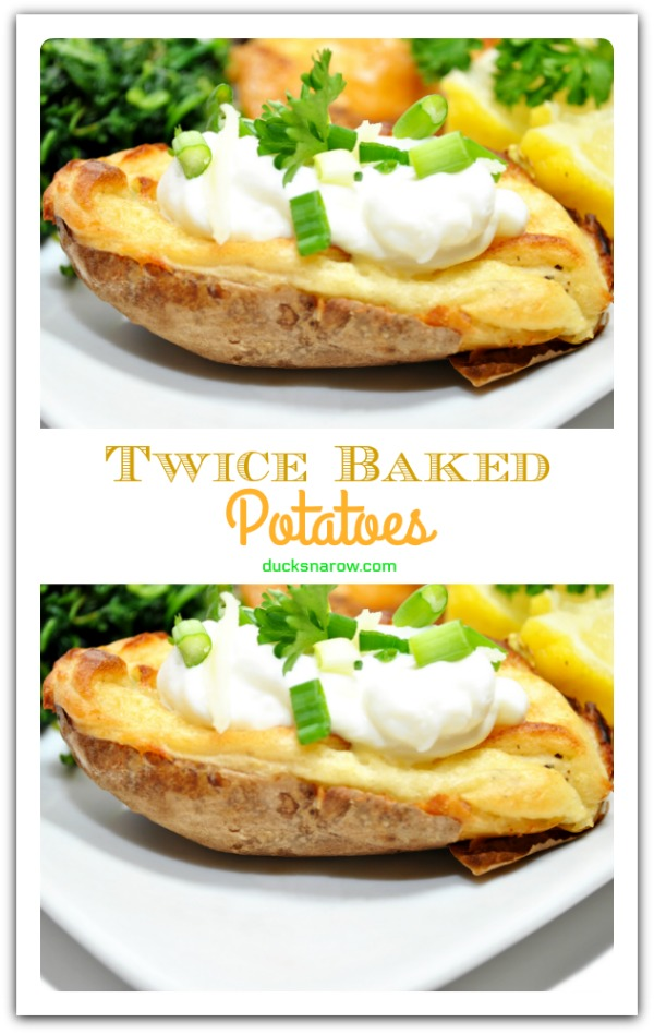 Twice Baked Potatoes - also called Potato Boats - are a great side dish! #recipes