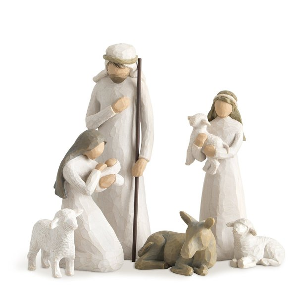 Lovely Nativity Set from Willow Tree #ad