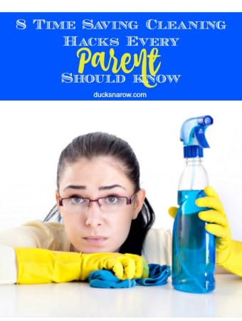 8 cleaning hacks to help busy parents save time and get the job done! #tips