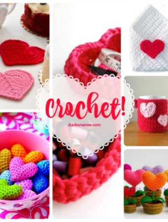 Trim to decorate throw pillows crocheted with two Valentine hearts #crochet