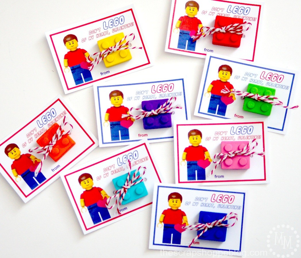 Lego Valentines with free printables