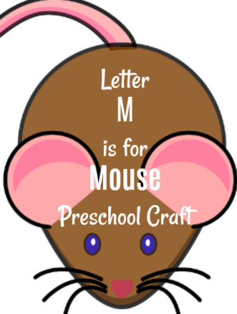 M is for Mouse preschool craft and If You Give A Mouse A Cookie book for #kids