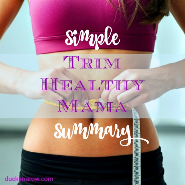 Simple Summary of the Trim Healthy Mama Plan