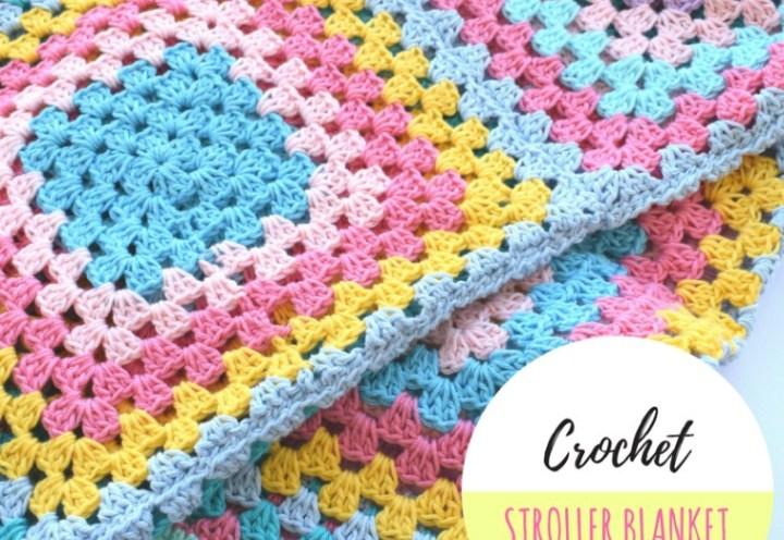 Crochet stroller blanket