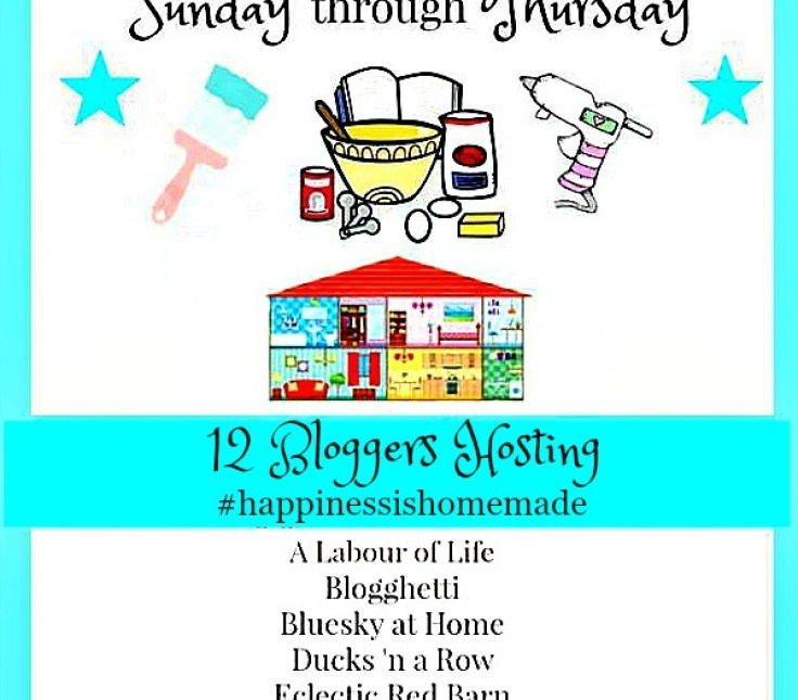 Happiness is Homemade Link Party 205. This link party is a great place to share your DIY, home decor, recipes and all around fun posts for others to see and enjoy. Join us every Sunday through Thursday as 12 bloggers host a link party bonanza. #linkparty BlueskyatHome.com