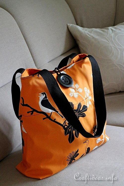 Durable fabric shopping bag #DIY