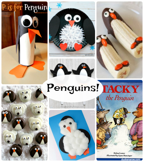 15 penguin crafts, food, books and games for #kids