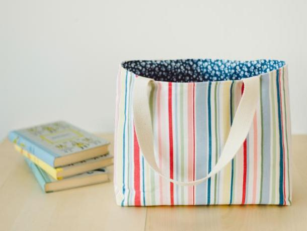 Easy lined tote bag tutorial