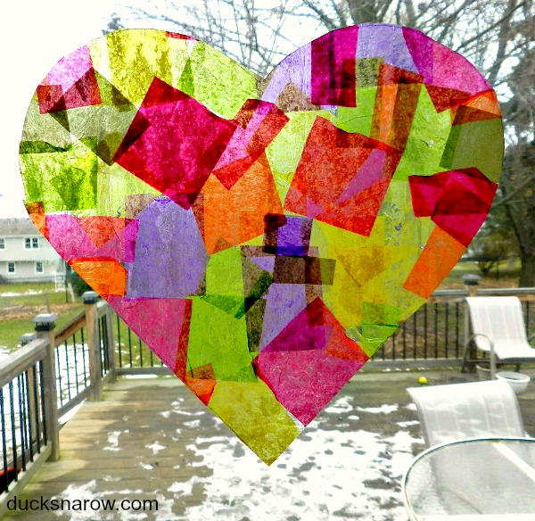How to make a pretty heart shaped suncatcher #crafts