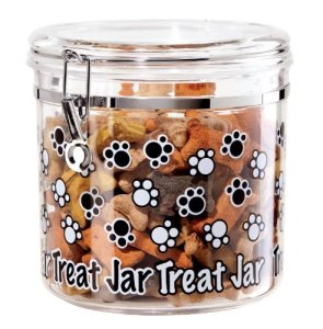 Jar for dog treats #organizing