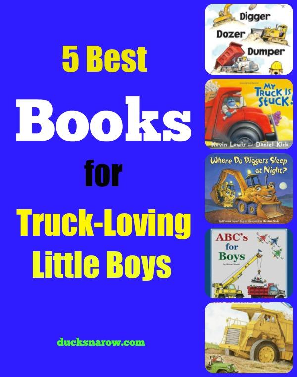 Best selling books for truck loving little boys #kids