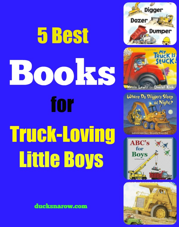Best selling books for truck loving little boys #kids