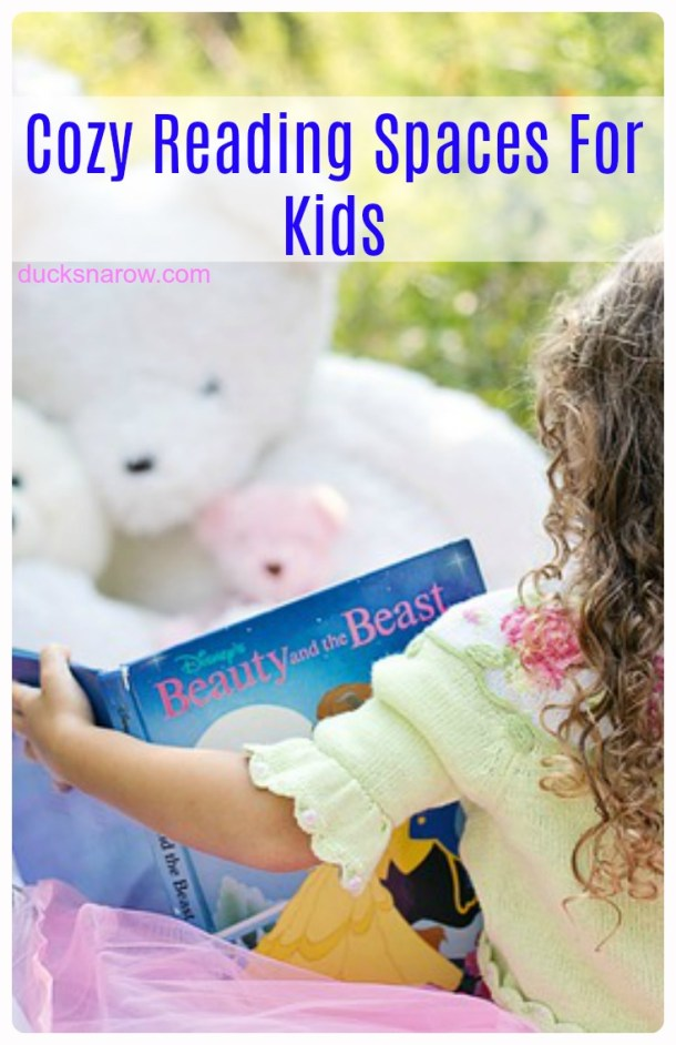 Make a cozy little place where your kids will love to go and read #kids