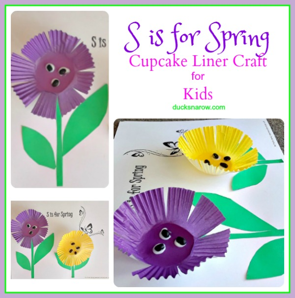 Fun S is for Spring cupcake liner craft for #kids