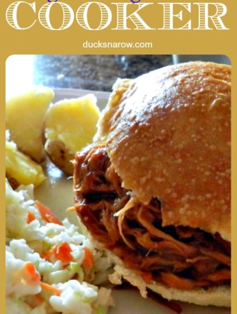 Easy recipe for slow cooker pulled pork #recipes