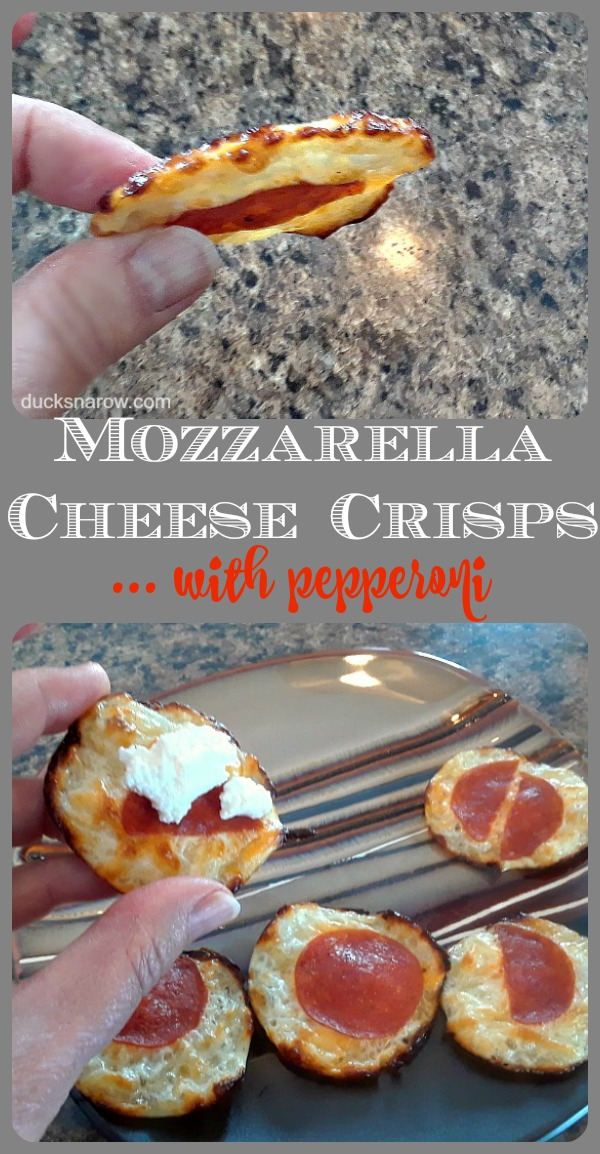 Mozzarella Cheese Crisps - low carb recipe #lowcarb