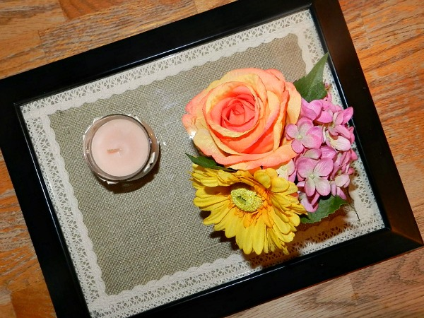 How to make a burlap and lace tray #DIY