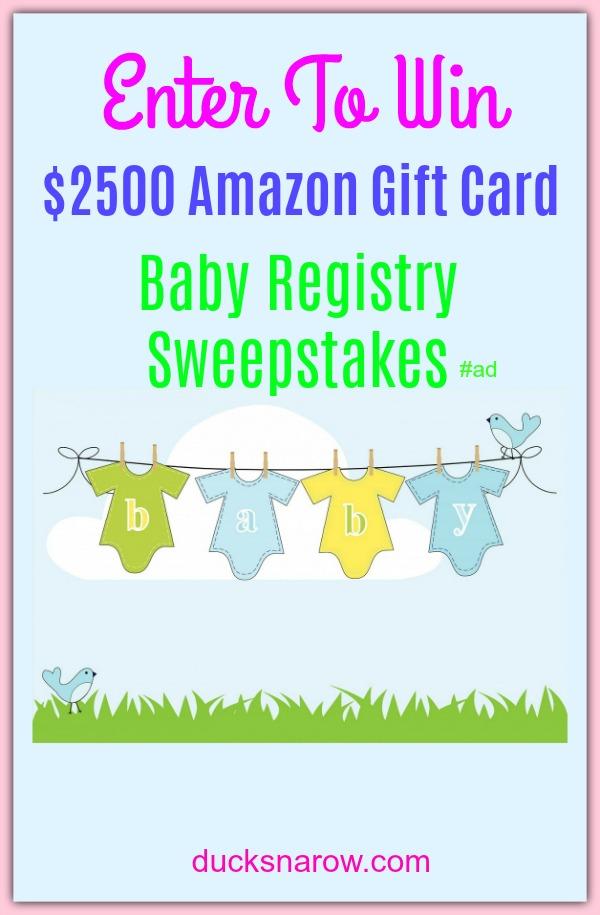 amazon baby sweepstakes