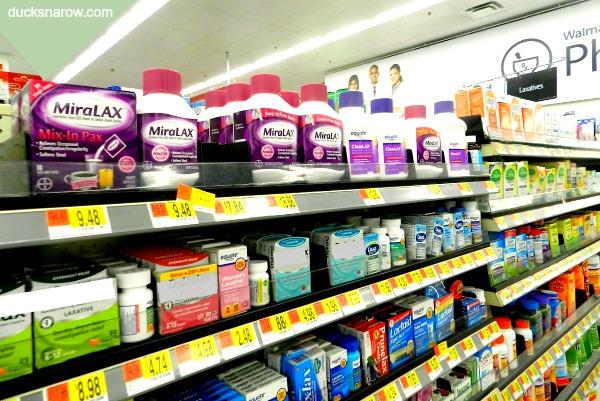 MiraLAX on shelves at Walmart #ad