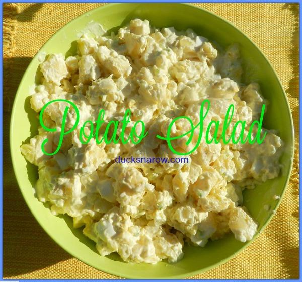 Mom's homemade potato salad #recipe