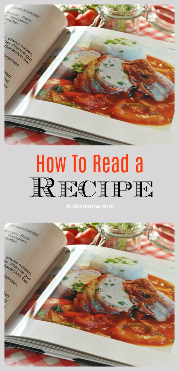 How to read a recipe - step by step keys to cooking success #tips