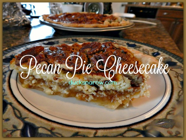 Pecan pie cheesecake recipe #recipes