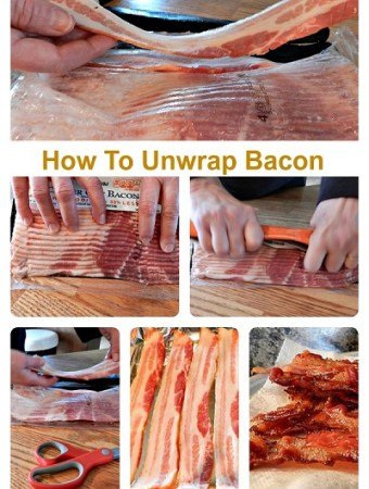 Easy tip to get bacon out of the package perfectly every time.