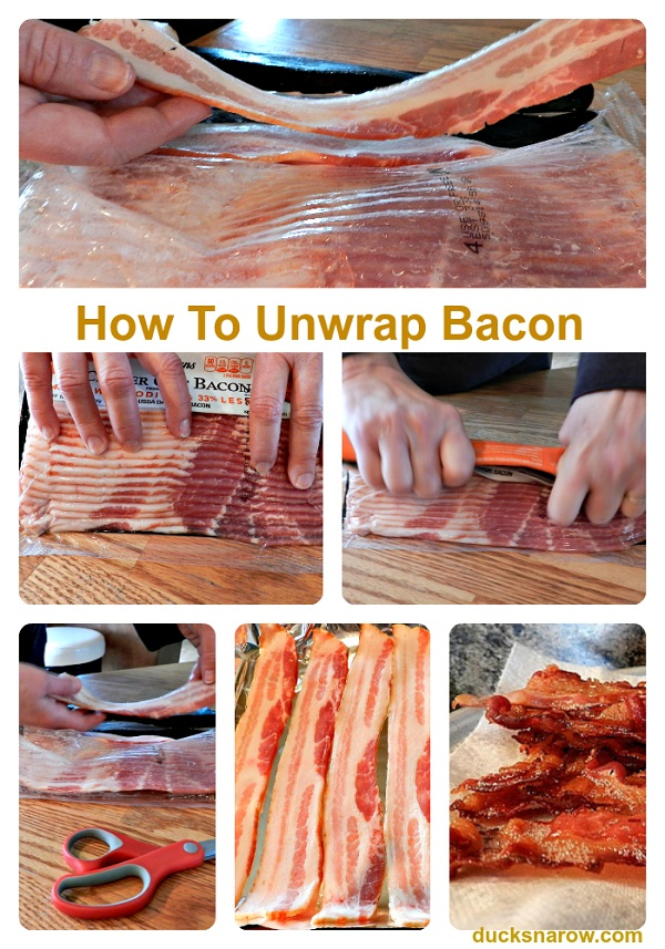 How to unwrap bacon perfectly #tip