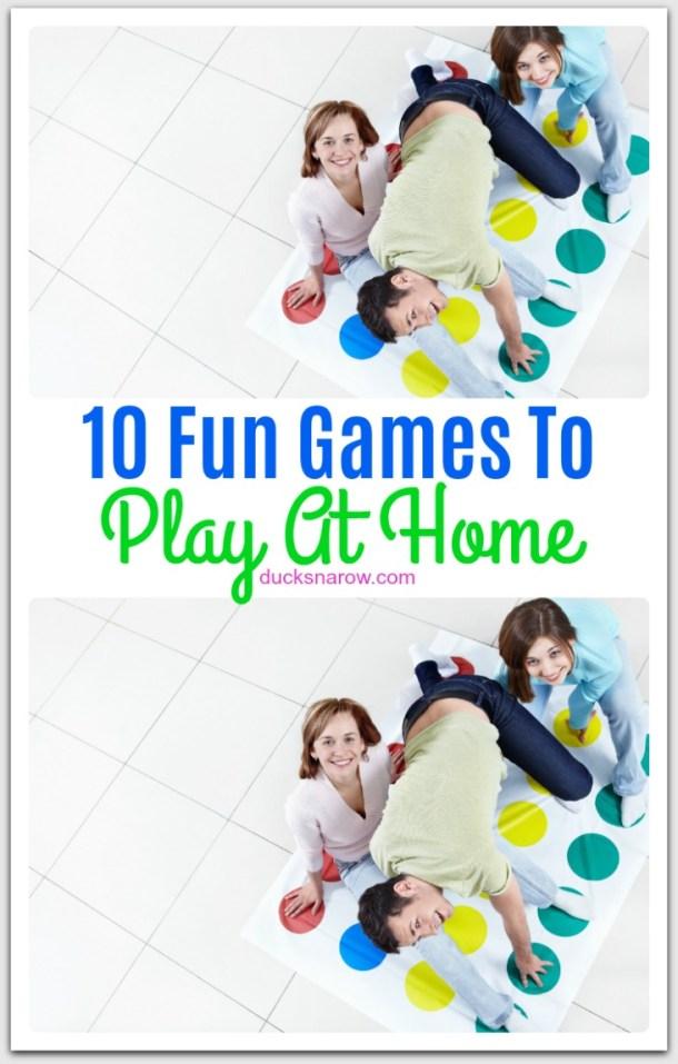 10 fun games to play at home #familyfun