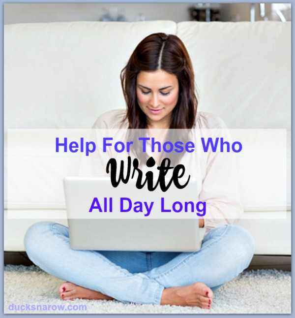 Help for those who write all day long #tips