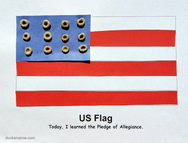 American flag craft for preschoolers #crafts